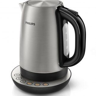 Fierbator Philips HD 9326, 1.7 l, 2200 W, carcasa din otel inox, filtru anticalcar