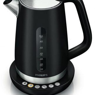 Fierbator Philips HD 9384, 1.7 l, 2400 W, filtru dublu, negru