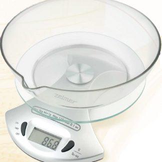 Cantar de bucatarie Zelmer 34Z051, 5 kg, display LCD, alb