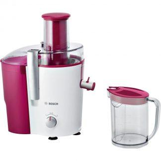 Storcator de fructe si legume Bosch MES25C0, 700 W, 2 viteze, recipient suc 1.25 l, recipient pulpa 2 l