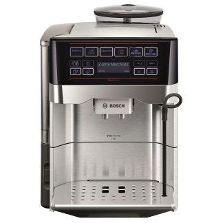 Espressor automat Bosch VeroAroma TES60729RW, Dispozitiv spumare, Functie AromaDouble Shot, Autocuratare, 19 Bar, 1.7 l, Inox/Negru