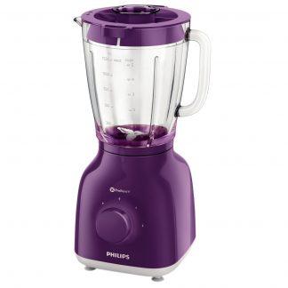 Blender Philips Daily Collection HR2105/60, 400 W, 1.25 l, 2 Viteze, Functie impuls, Violet