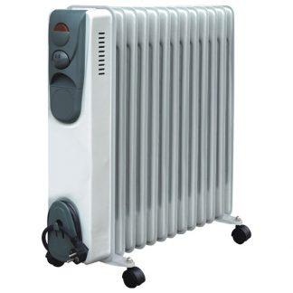 Calorifer electric Serreno NSF-25S-13, 2500 W, 13 elementi, 3 trepte de putere, Termostat reglabil