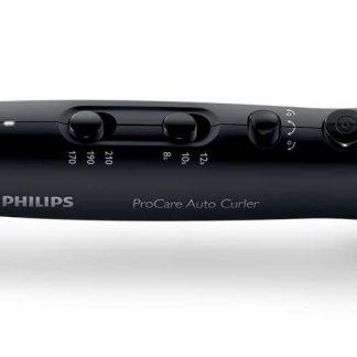 Ondulator Philips ProCare Auto Curler HPS940/00, 210 grade, Bara ceramica din titan, 3 Setari caldura, 3 Setari timp, Negru