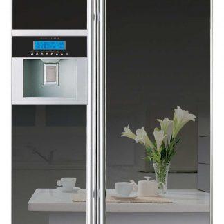 Combina frigorifica Side by side Daewoo FRN-T20DAMI, 637 l, A+, NoFrost, dozator de gheata, Nano silver