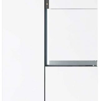 Combina frigorifica Side by side Daewoo FRS-T30H3, 780 l, A+, NoFrost, A+, Touch display, Alb