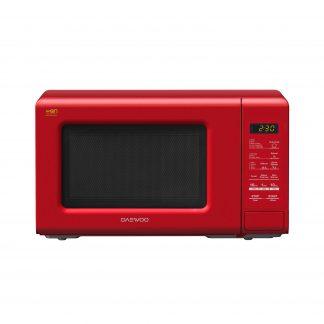 Cuptor cu microunde Daewoo KOR-6S2BR, digital, capacitate 20 litri, putere microunde 800 W, 10 niveluri putere, rosu