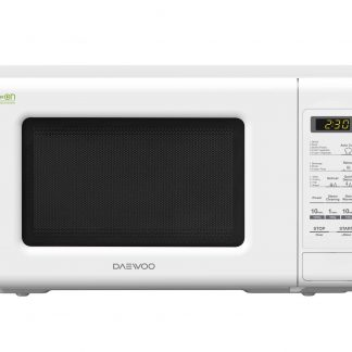 Cuptor cu microunde Daewoo KOR-6S2BW, digital, capacitate 20 litri, putere microunde 800 W, 10 niveluri putere, alb