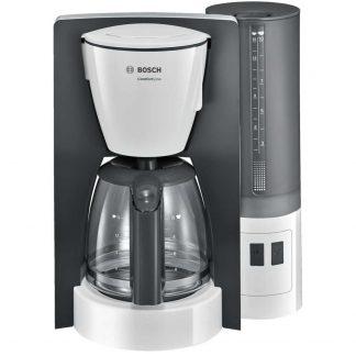 Cafetiera Bosch TKA6A041, 1.2 l, selector aroma, anti-picurare, oprire automata, program decalcifiere, Alb
