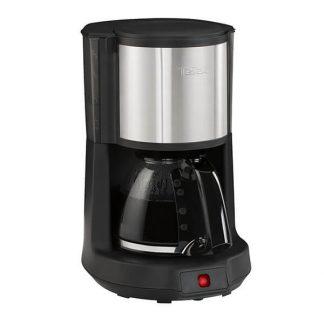 Cafetiera Tefal Subito Select CM370811, Capacitate de 10-15 cesti, 1.25L, Pastrare la cald de 30 min, Functie de oprire automata, Filtru cu suport rotativ, Negru/Argintiu