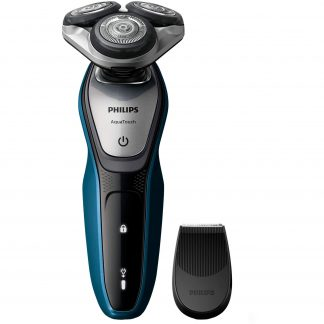 Aparat de ras Philips S5420/06, Lame Multiprecision, Wet&Dry, LED, Acumulator, 3 capete, Rotire in 5 directii, Trimmer, Negru