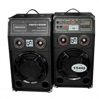 Sistem de boxe RAC-284A cu amplificator de putere cu bluetooth incorporat, 120 W pe canal, Bass speaker, Egalizator, Intrare AUX, Buton comutare