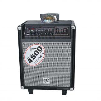 Boxa RAC-X034-08, Difuzor 8+1, RMS 45 Wi, Cu afisaj, USB, SD, Bluetooth, Glob disco