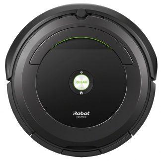 Robot aspirator iRobot Roomba 696, Navigatie iAdapt, Conectare Wi-Fi cu aplica?ia iRobot HOME, detectare acustica a murdariei, Negru