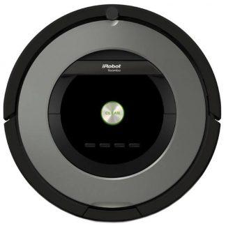 Robot de aspirare iRobot Roomba 866, Antiangle, Filtru HEPA, Wall Follow, Program SPOT, iAdapt, Argintiu/Negru