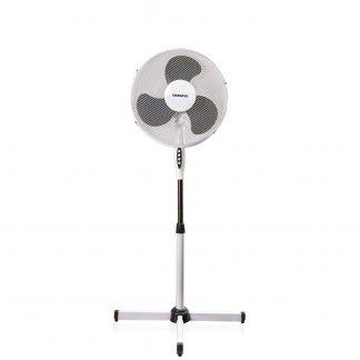 Ventilator cu picior Daewoo DDV160, 42 W, 3 trepte de viteza, miscare oscilatorie, Alb