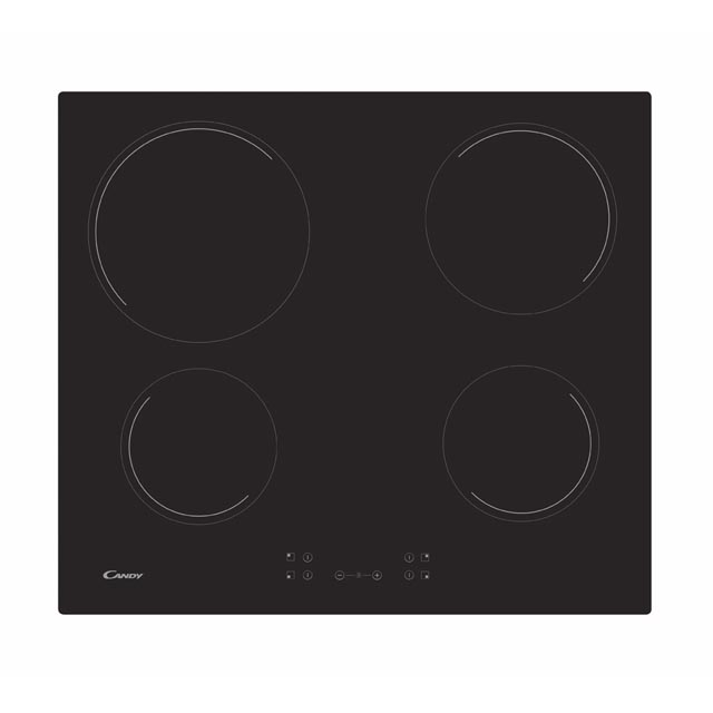 Plita incorporabila Candy CH64CCB, Vitroceramica, 4 Zona de gatit electrice, Touch control, 60 cm, Neagra