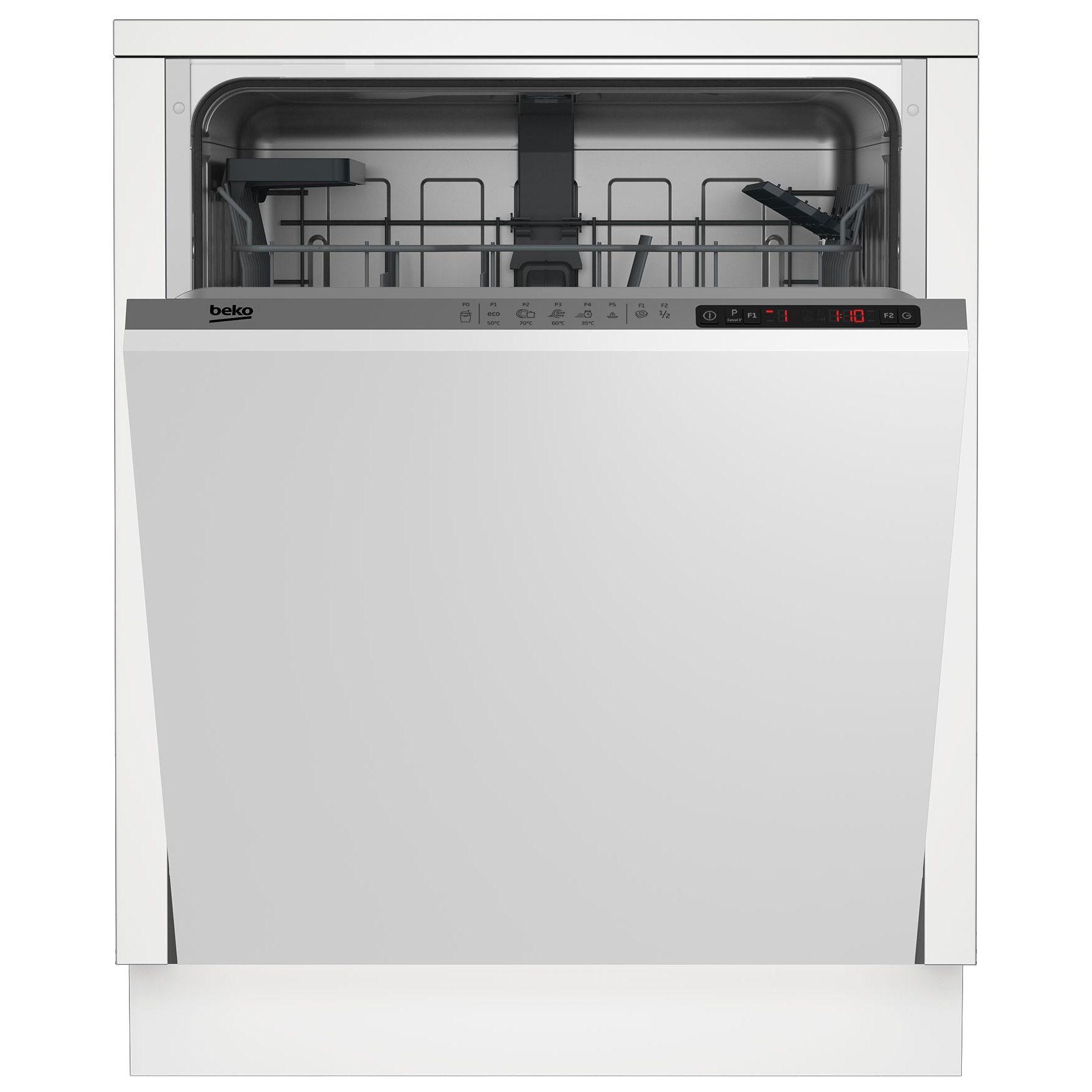 Masina de spalat vase incorporabila Beko DIN25310, 13 seturi, A+, Eco 50, Min 30, Alb