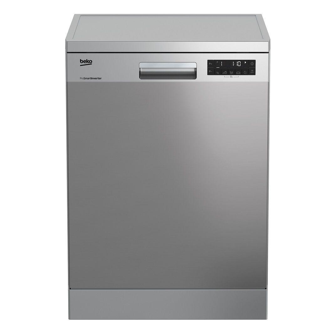 Masina de spalat vase Beko DFN26420X, 14 seturi, 6 programe, Clasa A++, Motor ProSmart, Display LCD, Traywash, Inox