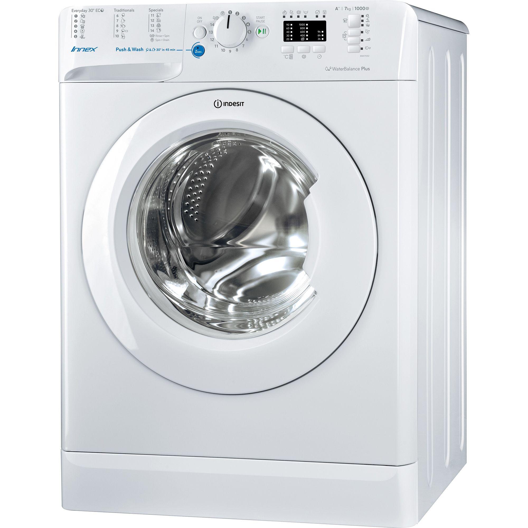 Masina de spalat rufe Indesit BWA 71052X W EU, 7 kg, 1000 rpm, Clasa A++, Alb