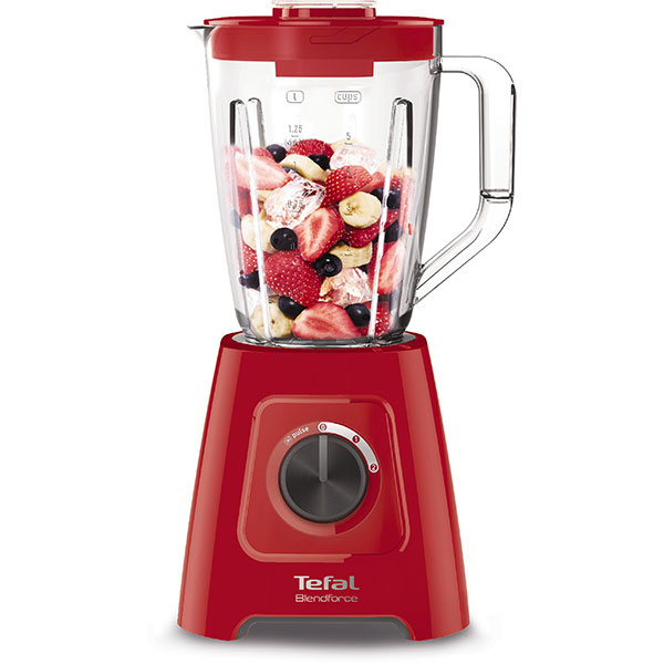 Blender Tefal BlendForce 2 BL420838, 600W, 4 lame, recipient 2L, Rosu