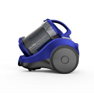 Aspirator fara sac Daewoo RCC-120L, 1400 W, 2 l, Tub telescopic, Filtru HEPA, Albastru/Gri