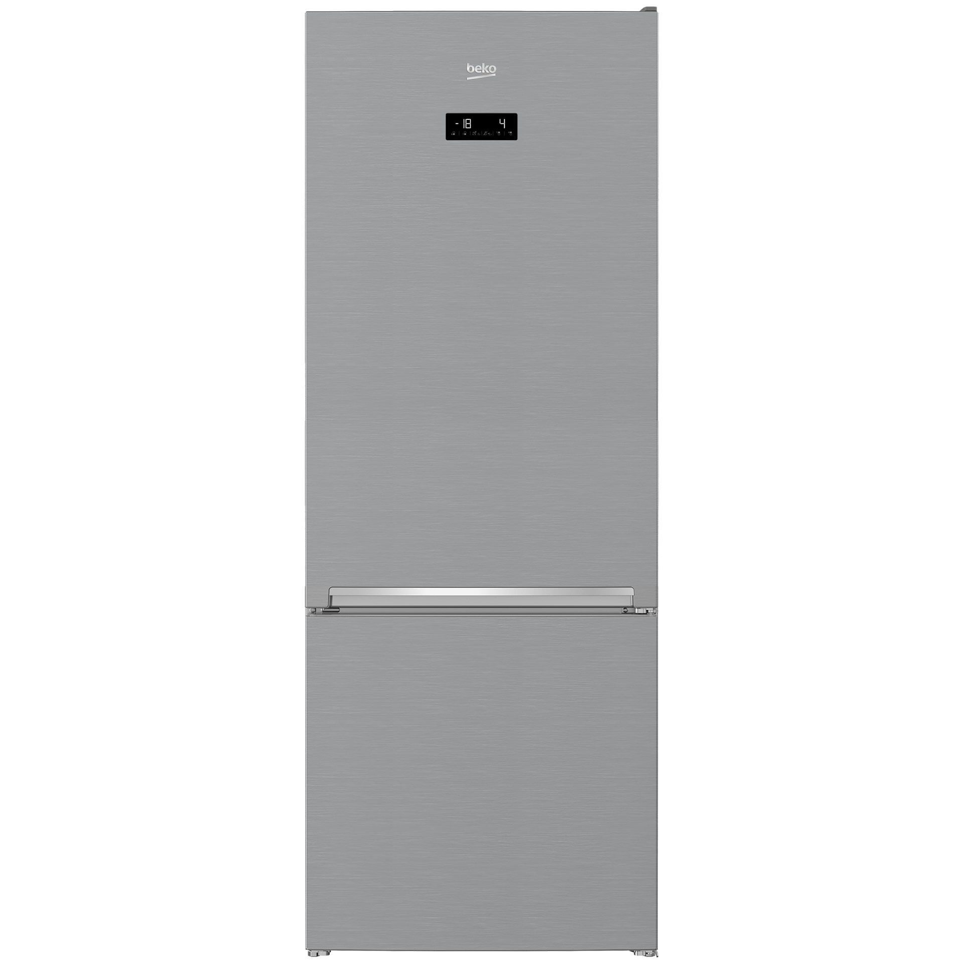 Combina frigorifica BEKO RCNE560E30ZXB, 501 l, 192 cm, A++, argintiu