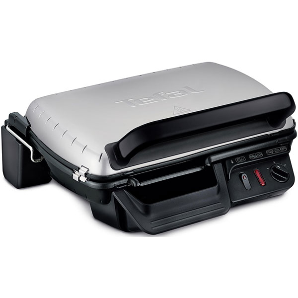 Gratar electric TEFAL Meat Grills GC600010, 2400W, 2 pozitii de gatire, placi antiaderente, Inox