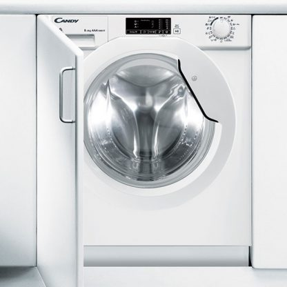 Masina de spalat rufe incorporabila cu uscator Candy CBWD 8514D-S, 8 kg/5 kg, 1400 rpm, Display, Alb