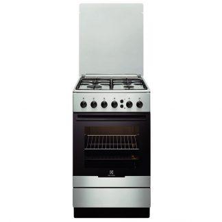 Aragaz Electrolux EKG51153OX, 4 arzatoare pe gaz, grill, siguranta
