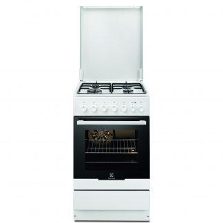 Aragaz Electrolux EKK52550OW, mixt, 4 arzatoare pe gaz, grill, siguranta