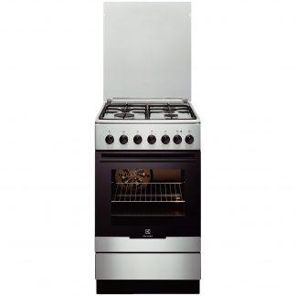 Aragaz Electrolux EKK52550OX, mixt, 4 arzatoare pe gaz, grill, siguranta
