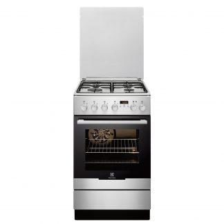 Aragaz Electrolux EKK54550OX, 4 arzatoare pe gaz, cuptor electric, grill