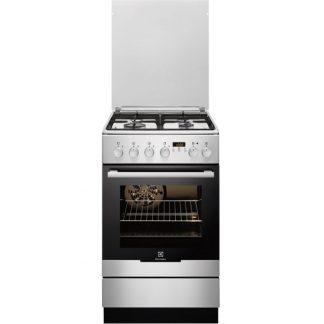 Aragaz Electrolux EKK54555OX, 4 arzatoare pe gaz, cuptor electric, grill