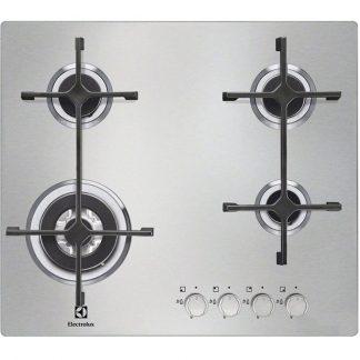 Plita Electrolux EGS6648NOX, 4 arzatoare pe gaz, siguranta, 60 cm
