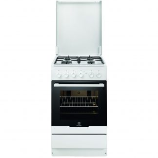 Aragaz Electrolux EKG51151OW, gaz, 4 arzatoare, grill, siguranta