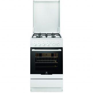 Aragaz Electrolux EKG51154OW, gaz, 4 arzatoare, grill, siguranta