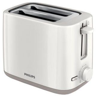 Prajitor de paine Philips HD2595/00, 2 felii, 800 W, alb
