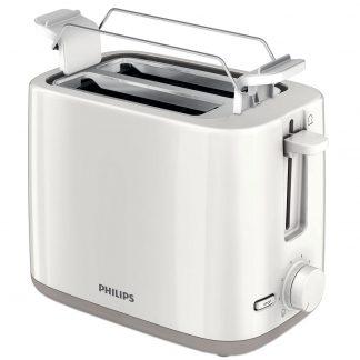Prajitor de paine Philips HD 2596, 2 felii, 800 W, alb