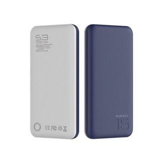 Baterie Externa Puridea S3 15000 Mah Albastru / Alb
