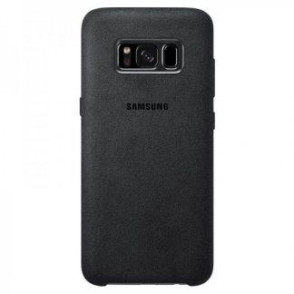 Capac Protectie Spate Alcantara Cover Negru Pentru Samsung Galaxy S8 Plus (g955)