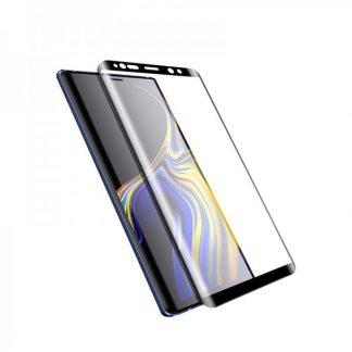 Folie Fata Silicon Mixon Ultra Samsung Note 9 Transparenta Cu Margini Negre ,silicon