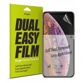 Folie Silicon Premium Full Cover Dual Easy Film Ringke iPhone XS Max Transparenta