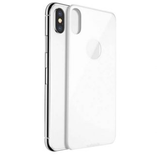 Folie Sticla 3d iPhone X , iPhone 10 Pentru Spate Alba
