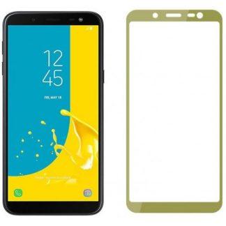 Folie Sticla Full Cover 3d Mixon Glass Samsung J6+ Plus 2018 Gold