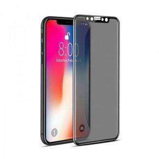Folie Sticla Full Cover Privacy Premium Mr.Monkey iPhone XS Max Cu Adeziv Pe Toata Suprafata