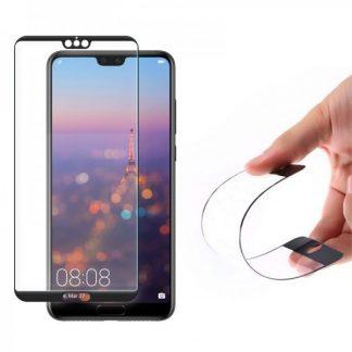 Folie Sticla Nano Glass Full Glue Wozinsky Huawei P20 Pro Negru Ultra Rezistenta