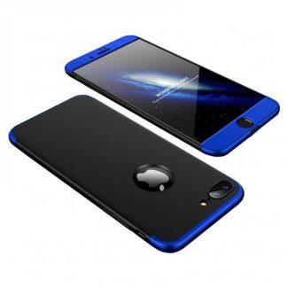 Husa 360 Grade Mixon Protection iPhone 7 Plus /8 Plus Negru Albastru