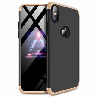 Husa 360 Grade Mixon Protection iPhone XS Max Gold-Negru