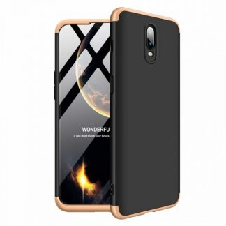 Husa 360 Grade Mixon Protection OnePlus 6T Negru-Gold